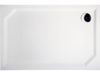 Gelco Sara HS11075 sprchová vanička z litého mramoru 110 x 75 x 4 cm obdelníková