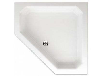 Teiko Pegas 90 x 90 x 14 cm sprchová vanička pětiúhelníková akrylátová
