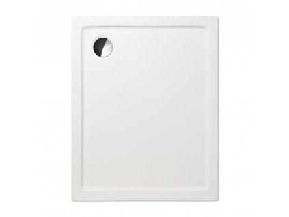 Roth FLAT KVADRO obdelníková sprchová vanička 160 x 75 x 6 cm 8000244 akrylátová bílá