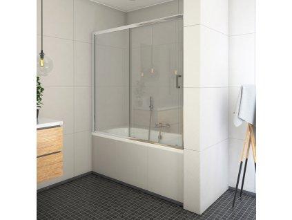 Roth LLV2/1400 vanová zástěna s posuvnými dveřmi 140 x 150 cm 572-1400000-00-02 brillant / transparent