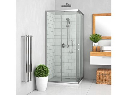 Roth LLS2/800 Smont čtvercový sprchový kout 80 x 80 x 190 cm 554-8000000-00-02 brillant / transparent