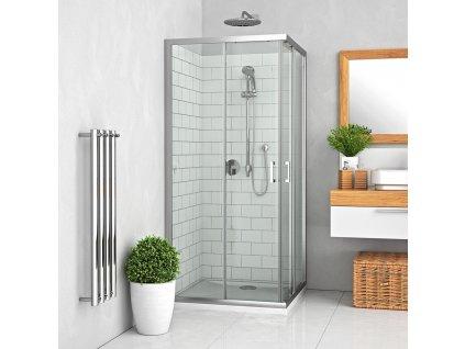 Roth LLS2/1000 x 800 obdelníkový sprchový kout 100 x 800 x 190 cm 554-1008000-00-02 brillant / transparent