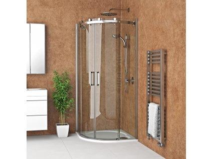 Roth AMR2N/1000 čtvrtkruhový sprchový kout 100 x 100 x 200 cm 624-1000000-00-02 brillant / transparent