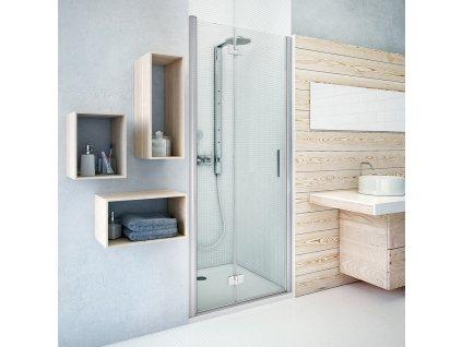 Rolltechnik TZNP1/1100 sprchové dveře skládací 110 x 201,2 cm pravé 739-110000P-00-02 brillant / transparent