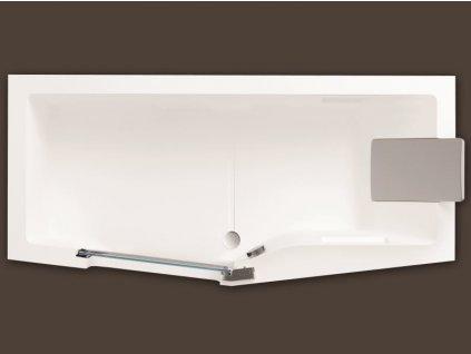 Santech IRIS 160 x 80 cm SAIRI160L vana s dvířky akrylátová levá