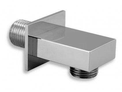 Novaservis D/HRANA,0 stěnový vývod sprchy hranatý chrom