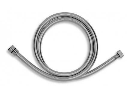 Novaservis GREY/150,0 sprchová hadice plastová 150 cm nepřekrucovací stříbrošedá