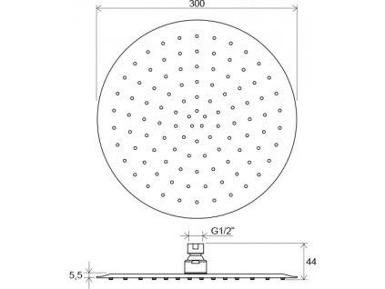 Ravak Chrome 984.00 hlavová sprcha Slim kulatá o 300 mm