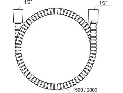 Ravak 915.00 sprchová hadice 150 cm kovová sochrannou vrstvou