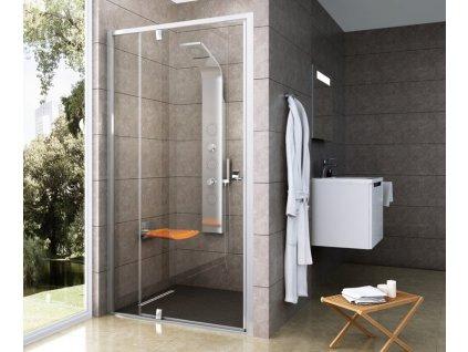 Ravak PDOP2 - 100 x 190 cm sprchové dveře dvoudílné sklo
