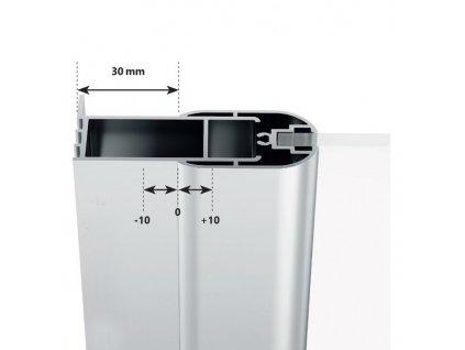 Ravak CSKK4 - 80 x 80 x 195 cm sprchový kout čtvrtkruhový čtyřdílný SATIN