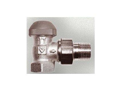 "HERZ TS-98-VHF termostatický ventil 1/2"" M30x1,5 s plynulým přednastavením rohový, číselná stupnice (šedá krytka) 1 7624 21"