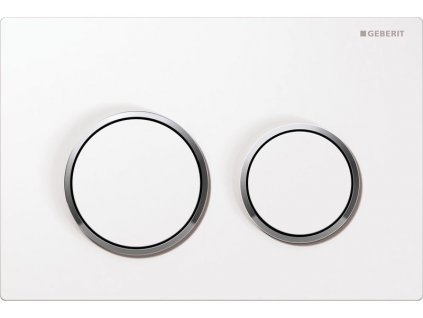 Geberit Omega 20 115.085.KJ.1 ovládací tlačítko bílá / pochromovaná lesklá / bílá
