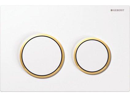 Geberit Omega 20 115.085.KK.1 ovládací tlačítko bílá / pozlacená / bílá