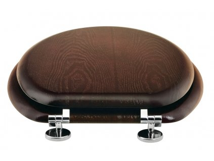 Aqualine 1705-11 WC sedátko HDF ořech