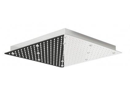 Sapho Slim MS563-LED RGB hlavová sprcha 500 x 500 mm nerez