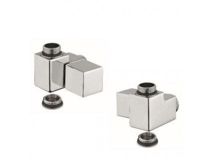 Sapho Cube Combi připojovací sada ruční rohová pravá chrom CP561