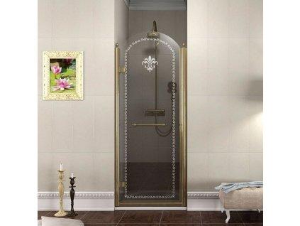 Gelco Antique GQ1280LC sprchové dveře 80 x 190 cm bronz levé