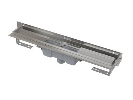 APZ1004-1150 Flexible podlahový žlab s nastavitelným límcem ke stěně svislý odto