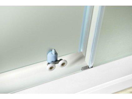 Aqualine Amadeo 120 cm sprchové dveře sklo BRICK BTS120