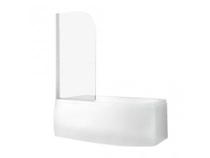 Roth Project Line SCREEN PRO vanová zástěna 81 x 140 cm 4000688 bílá / transparent