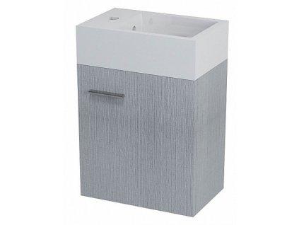 Sapho Latus V LT510 umyvadlová skříňka 35,6 x 40 x 23 cm dub stříbrný