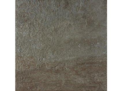 Rako Como DAR3B694 dlažba 33 x 33 cm slinutá hnědočerná