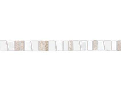 Rako Garda GLLJV101 listela 2,5 x 30 cm bílo šedá