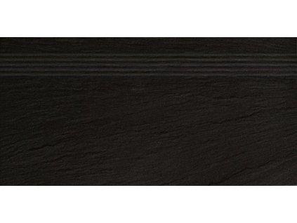 Rako Geo DCPSE314 schodovka 30 x 60 cm černá