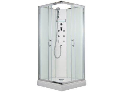 Arttec Smaragd 87x87x209 cm masážní sprchový box model 4 čtvercový PAN01280 čiré sklo