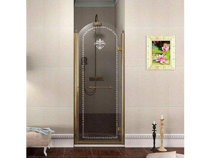 Gelco Antique GQ1380RC sprchové dveře 80 x 190 cm bronz pravé