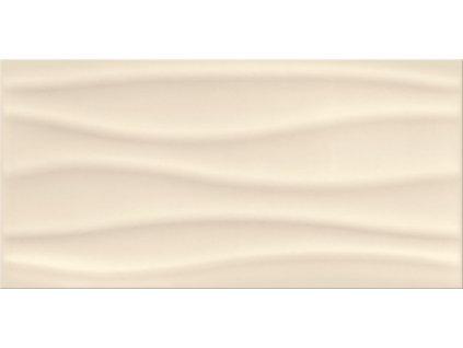 Opoczno Basic Palette beige glossy wave obklad 30 x 60 cm lesklá béžová