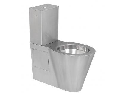 Sanela SLWN 16 nerezové kombi WC pro tělesně handicapované