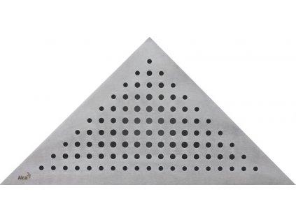 Alcaplast TRITON rošt pro rohový podlahový žlab nerez kartáčovaný mat