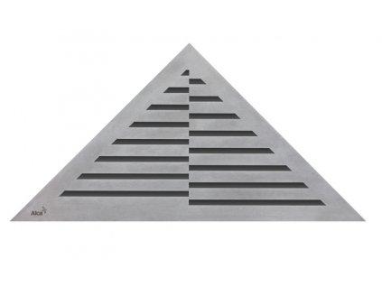 Alcaplast TIME rošt pro rohový podlahový žlab nerez kartáčovaný mat