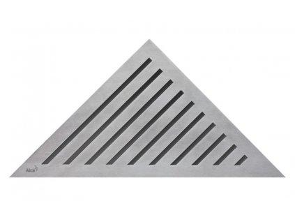 Alcaplast GRACE rošt pro rohový podlahový žlab nerez kartáčovaný mat