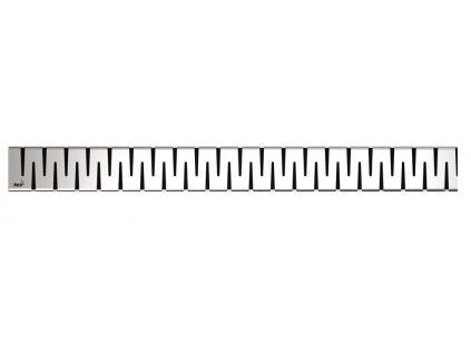 Alcaplast ZIP-850L Rošt pro liniový podlahový žlab - nerezový lesklý