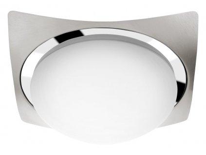 Sapho Metuje AU466 stropní LED svítidlo 26x26 cm chrom/broušený chrom