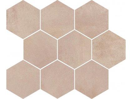 Opoczno Arlequini mosaic hexagon 28x33,7 cm