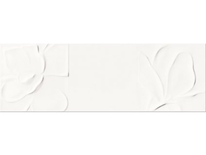 Opoczno Structure Pattern white flower structure obklad 25x75 cm