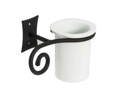Sapho Rebecca CC004 držák kartáčků černá/keramika