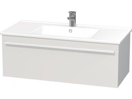 Intedoor LC 100 01 skříňka s keramickým umyvadlem Lucca 100 cm bílá vysoký lesk/mat