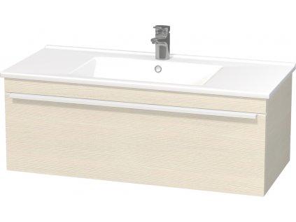 Intedoor LC 100 24 skříňka s keramickým umyvadlem Lucca 100 cm Woodline creme