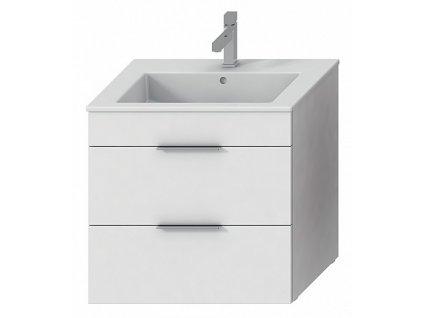 Jika Cube H4536021763001 skříňka s umyvadlem 65 x 43 cm bílá