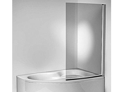 Jika  Vanová zástěna jednodílná 153 × 91cm, transparent MK35927