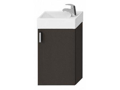 Jika Petit H4535111753011 skříňka s umyvátkem 40 x 23,5 cm šedá