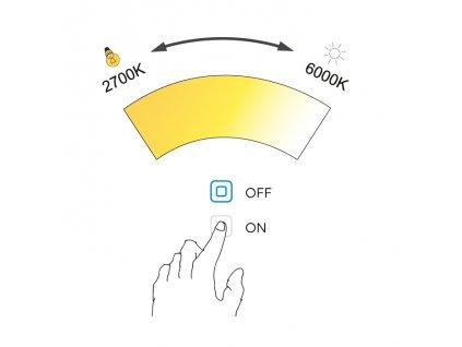 Nimco ZP 13004V LED zrcadlo 100 x 70 cm s dotykovým senzorem