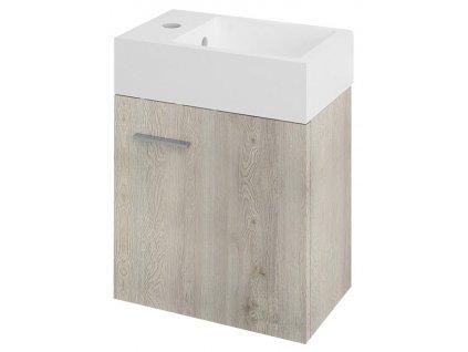 Sapho Latus V LT055 skříňka umyvadlová 35,6x40x23 cm dub Mocca