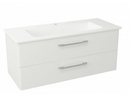 Sapho Pura PR125 umyvadlová skříňka 117 x 50,5 x 48,5 cm bílá