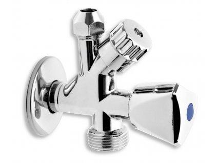 """NOVASERVIS CF5104 1/2""""x3/8""""x3/4"""" kombinovaný roháček s ventilem pro pračku"""